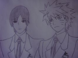 Naruto and Sai Ouran style by Demon-Twin