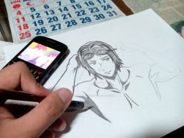 Trying to draw Rin Matsuoka by TealBlueNights