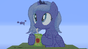 Minecraft Woona Pixel Art! by LunaTheGoodMoon