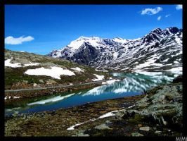 Mountain's Lake by MiMi-MosH by Scapes-club
