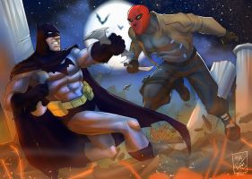 Batty Vs Red by artnerdx