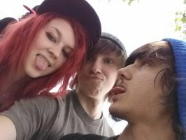 Me, avery and chris (in order) by Xx-Cake-xX