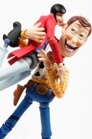 Woody and Lupin the Perv by theonecam