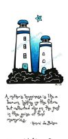 Mother's lighthouses by rachelillustrates