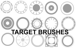 Target Brushes by aphasia100stock