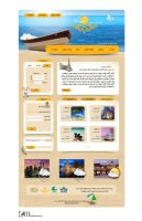 Aftab gasht  Travel agency web template by ghazalehv