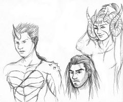 Protagonists Faces Comparison by Ultyzarus
