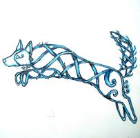 Knotwork Border Collie by CnickArach