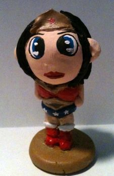 Chibi Wonder Woman Figure by comicalclare