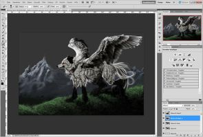 White Winged Chaos WIP by WhiteSpiritWolf