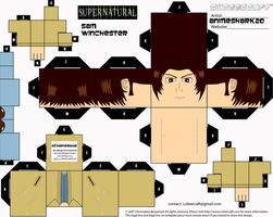 Cubeecraft - Sam - Supernatural by AnimeShark20