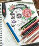 Dia de los Muertos (Day of the Dead) ---- (WIP 4) by JCee911