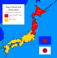 Divided Japan since 1945 by kyuzoaoi