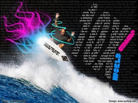 Kelly Slater 10x World Champ by SURFZUP