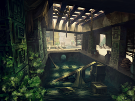Abandoned Mayan Camp by FeralTalent