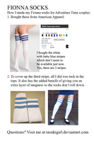 Fionna Sock How To by tasukigirl