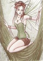 Dryad ACEO by dark777fairy