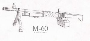 M-60 Machinegun by Evening-Arrow