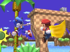 Mario and Sonic Brawl 2 by dragonheart07