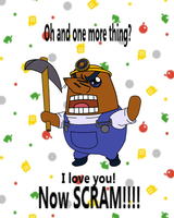 Animal Crossing - Resetti Valentines Card by CraftHarmony