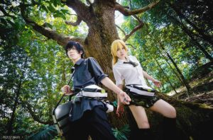Btooom !!! Ryouta and Himiko by fritzfusion