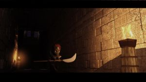 Ganondorf walking inside the Gerudo's Fortress by Rwanlink