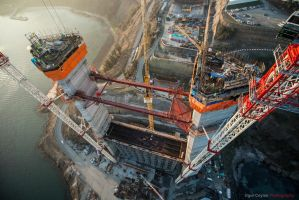 3rd Bosphorus Bridge construction by justuur