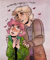 Remus and Tonks by keytaro