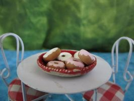 Clay Donuts by sonickingscrewdriver