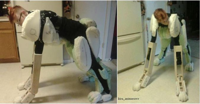 Nora Ceberus Quadsuit, body foaming WIP3 by 10kk