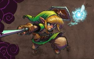 Zelda Tribute to Joe Madureira by Yizard