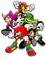 Team Chaotix shaded by RadzHedgehog