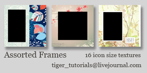 Assorted Frames by Martini-Tiger-Bianco