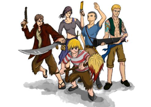 Attack on Titan ... as pirates? (WIP) by 123shaneb