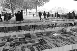 Street books selling by CanisDiabolos