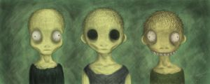 three wise zombies by Keks--Kruemel