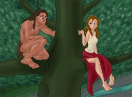 The Ape Man and His Dame by aurum-femina