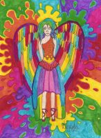 rainbow angel by BestImagineryFriend