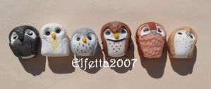 Six sweety owl: KNICKKNACK by Elfetta2007