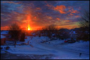Sun Pillar II by FramedByNature
