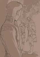 Balthier looking back by emmav
