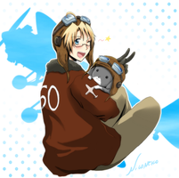 APH - America and Bo by Niconekoness