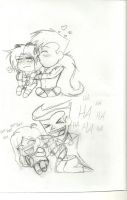 Crazy Couples - Sketch by Jackie-Chaos-Bunny