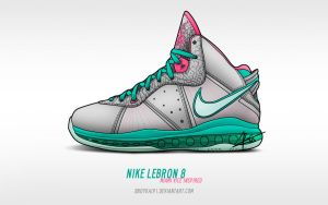 Nike Lebron 8 'Miami Vice' by BBoyKai91