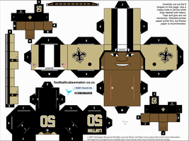 Curtis Lofton Saints Cubee by etchings13