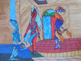3 dragons in a bath house by crownvetchponylover9