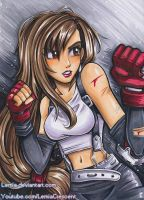 Copic Marker Tifa Lockhart FFVII by Lemia