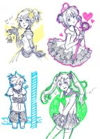 Highlighter Sketches by suppiechan25