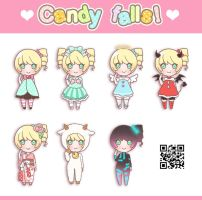Candy Falls! Special Costumes by Motoko-Su