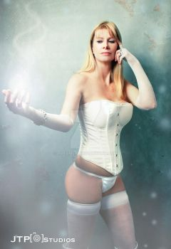 White Queen Cosplay shoot with Diane by TREXMAN